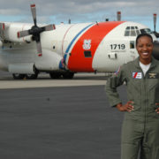 OAHU, Hawaii (January, 2006) As the first African American female to successfully complete flight training and be assinged as a pilot, Coast Guard Lt. j.g. Jeanine McIntosh will fly a C-130 Hercules aircraft stationed at Air Station Barbers Point, Oahu, Hawaii for service related missions throughout the Pacific region. USCG photo by PA2 Jennifer Johnson.